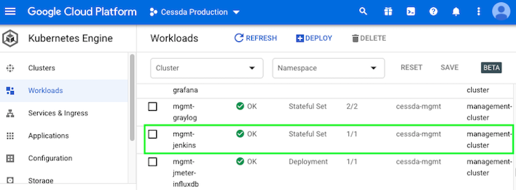 Jenkins Workload
